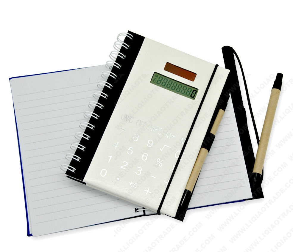 PU paperback notebook with elastic cord
