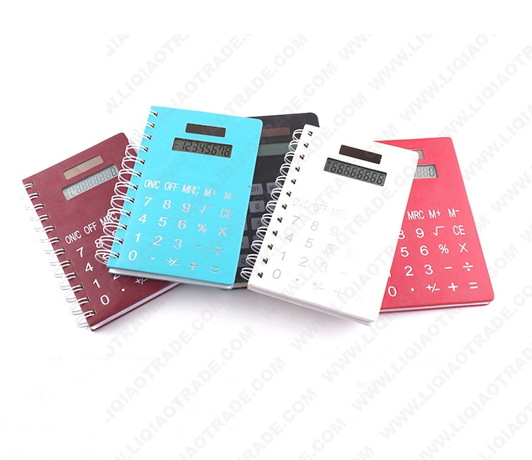 PU paperback notebook with caculator