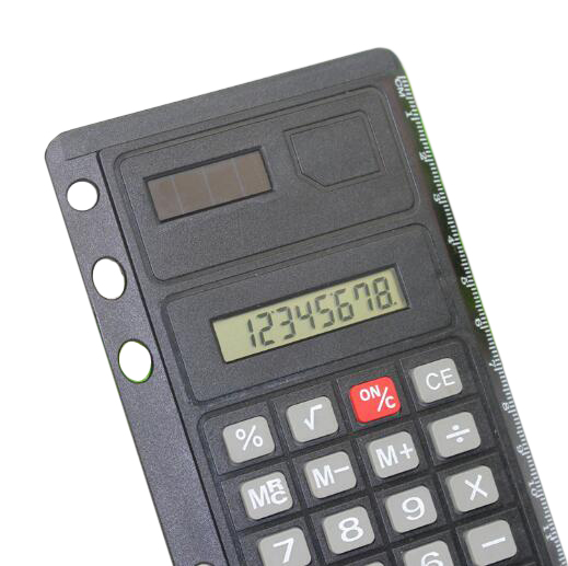 Creative pure color ultrathin 12 digits double power calculor for office