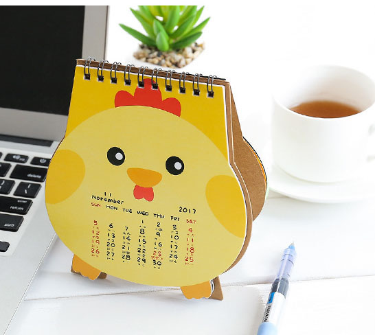 Creative animals type paper calendar